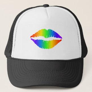 Rainbow Kiss, Colorful Lips Trucker Hat