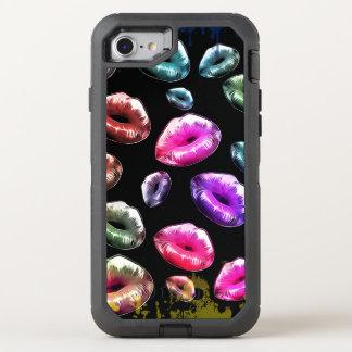 Rainbow kisses OtterBox defender iPhone 7 case