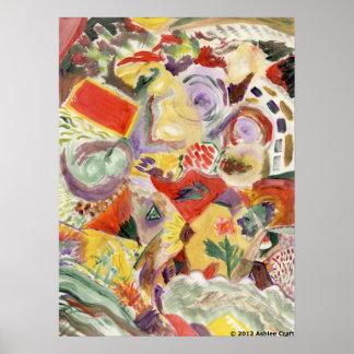 """""""Rainbow Kitchen"""" Art Poster Print"""
