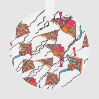 Rainbow Kite Pattern Ornament