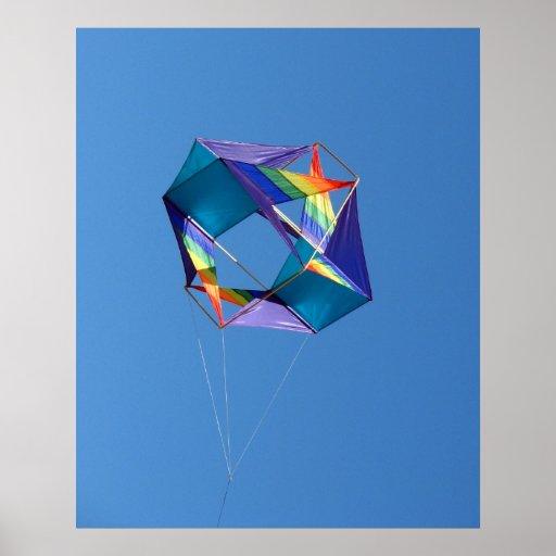 Rainbow Kite Posters
