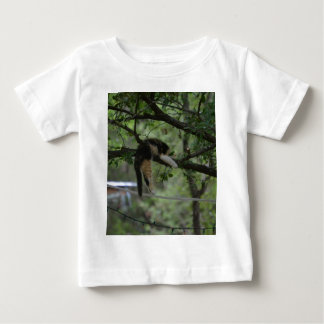 Rainbow - Kitten sleeping on a limb Baby T-Shirt
