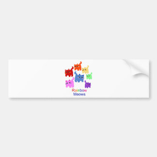 Rainbow kittens! bumper sticker