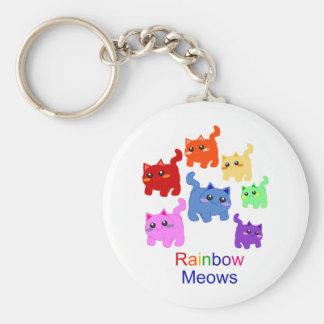 Rainbow kittens key chains
