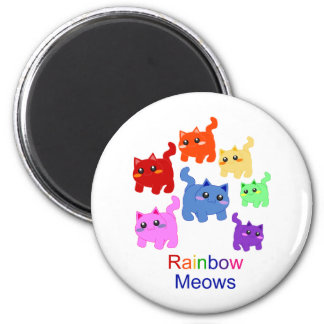 Rainbow kittens! magnet