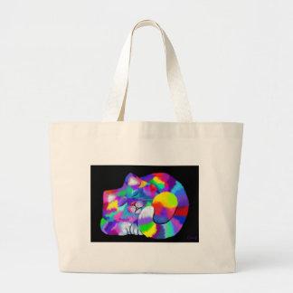 Rainbow kitty jumbo tote bag