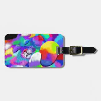 Rainbow kitty tag for bags
