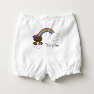 Rainbow Kitty Personalized Diaper Cover