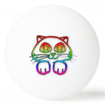 Rainbow Kitty ping pong ball