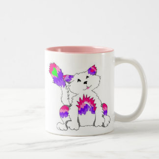 Rainbow Kitty Two-Tone Coffee Mug
