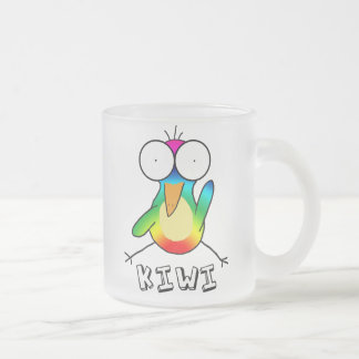 Rainbow Kiwi Frosted Mug