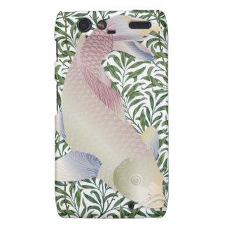 Rainbow Koi Fish & Green Water Plants 2 Motorola Droid RAZR Covers