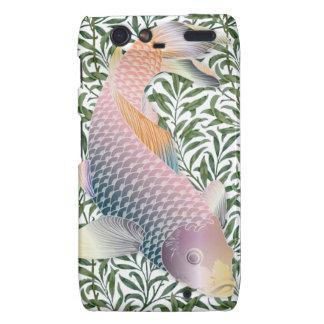 Rainbow Koi Fish & Green Water Plants Motorola Droid RAZR Cover