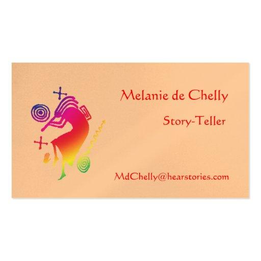 Rainbow Kokopelli Story-Teller Business Card