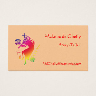 Rainbow Kokopelli Story-Teller Business Card