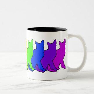 Rainbow Korat Two-Tone Coffee Mug