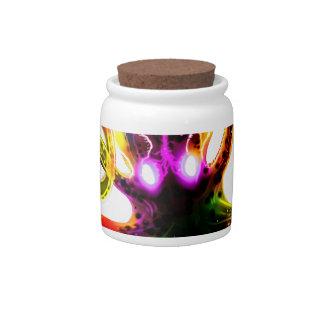 Rainbow Kraken Glow Candy Jar