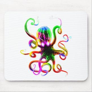 Rainbow Kraken Glow Mouse Pad