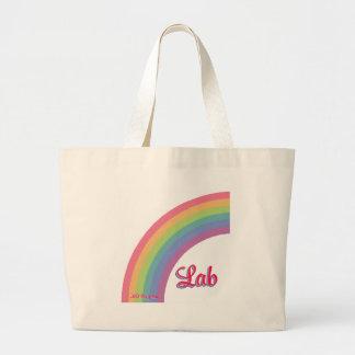 Rainbow Lab Large Tote Bag