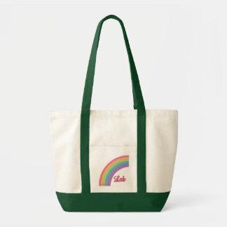 Rainbow Lab Tote Bag