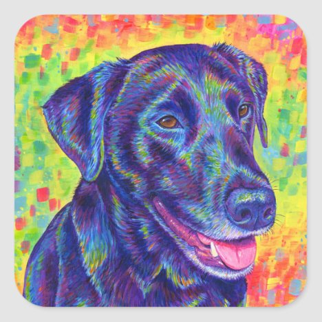 Rainbow Labrador Retriever Dog Stickers