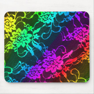 Rainbow Lace Mouse Pad