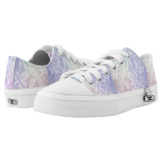 Rainbow lace printed shoes