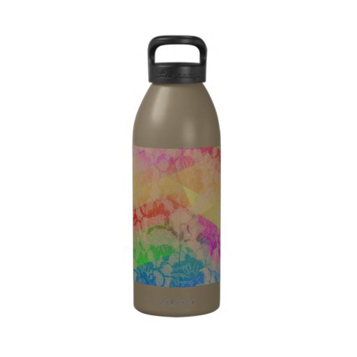 Rainbow Lace Roses Water Bottles