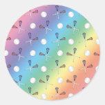 Rainbow lacrosse pattern stickers
