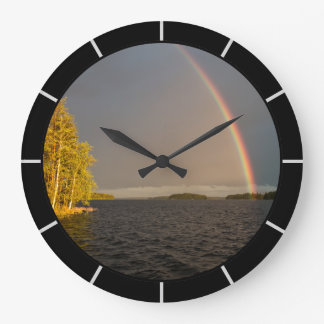 Rainbow lake large clock