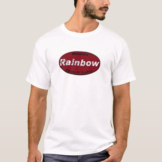 Rainbow Lake License Plate - Red T-Shirt