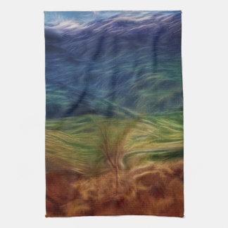 Rainbow Landscape Hand Towel