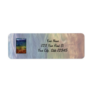Rainbow Landscape Label