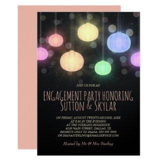 Rainbow Lanterns Engagement Party Invitation