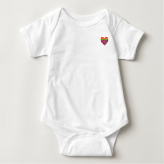 Rainbow Layered Heart Infant One Piece Outfit Baby Bodysuit