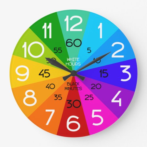 Rainbow Learn to Tell Time Classroom Clock