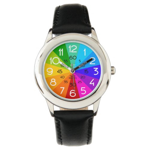 Rainbow Learn to Tell Time Kids Watch
