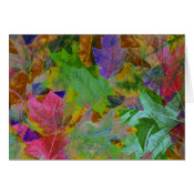 Rainbow Leaves Background Card (<em>$3.15</em>)