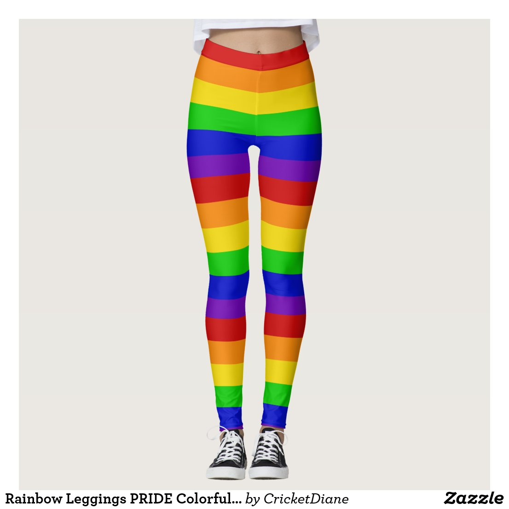 Rainbow Leggings PRIDE Colorful Fun