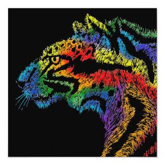 Rainbow leopard (black) invitation - 525x525