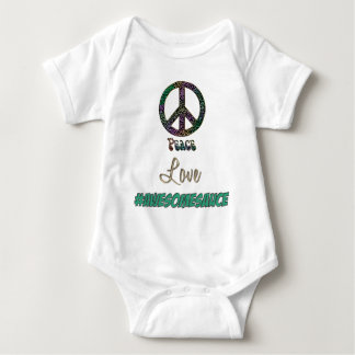 Rainbow Leopard Peace Love #AWESOMESAUCE Baby Bodysuit