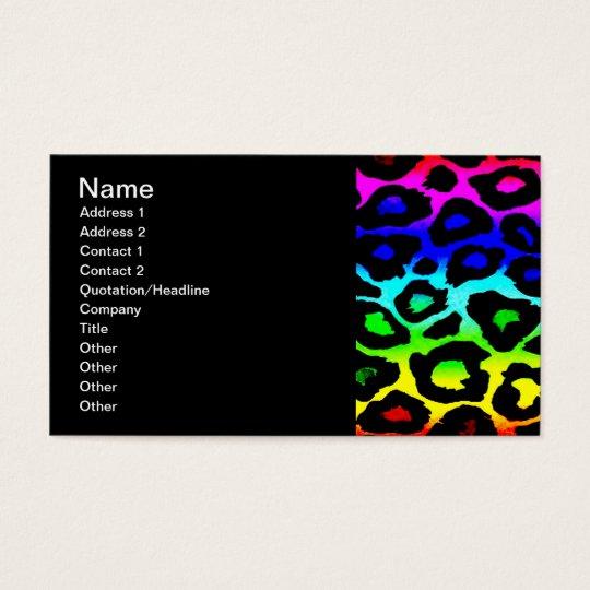 rainbow_leopard_print-altered business card