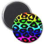 rainbow_leopard_print-altered imanes de nevera