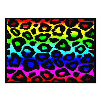rainbow_leopard_print-altered personalized invitation