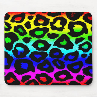 rainbow_leopard_print-altered mouse pads
