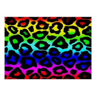 rainbow_leopard_print-altered poster