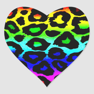 rainbow_leopard_print-altered heart stickers