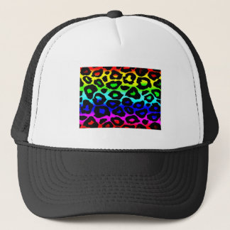 rainbow_leopard_print-altered trucker hat