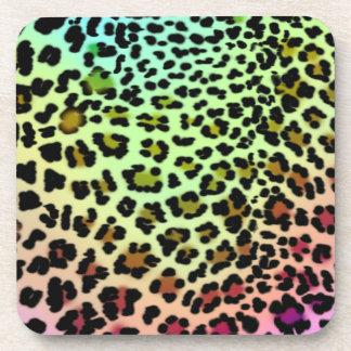Rainbow Leopard Print coasters