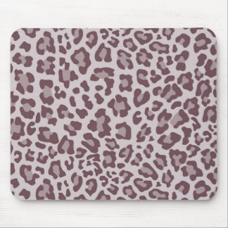 Rainbow Leopard Print Collection - Brown Mouse Pad